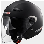 LS2 Black Open Face Motorcycle Helmet
