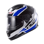 LS2 Omega Blue Full Face Motorcycle Helmet