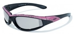 Transitional Women's Motorcycle Glasses: Pink