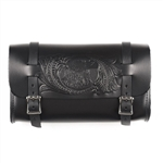 Embossed USA Eagle Leather Motorcycle Tool Bag