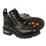 Ladies Milwaukee Leather Motorcycle Boots: Low Cut