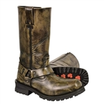 Milwaukee Leather Distressed Brown Motorcycle Boots
