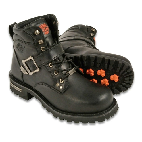 Milwaukee Leather Men's Wide Motorcycle Boots - Free Shipping