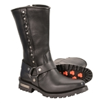 Milwaukee Leather Motorcycle Boots: Harness Style