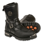 Milwaukee Leather Men's Motorcycle Boots: Shift Protection