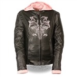 Pink Milwaukee Women's Leather Motorcycle Jacket