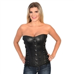 Milwaukee Black Leather Corset Top Bustier