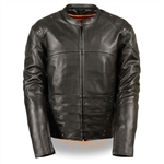 Assault Style Leather Motorcycle Jacket: Racer Style