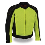 High Visibility Mens Mesh Racing Jacket