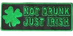 Irish Biker Patch: Not Drunk Just Irish