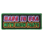 Irish Biker Patch: Made In USA