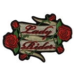 Lady Rider Roses Biker Patches