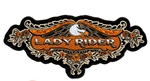 Lady Rider & Eagle - Embroidered Motorcycle Patch
