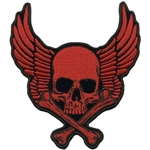 RedSkull & Bones Biker Patch