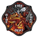 Eagle VS Dragon Fire Department Biker Patchs