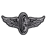 Flying Wheel Biker Patch