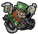 Irish Leprechaun Biker Patch