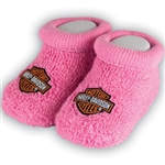 Harley-Davidson Baby Clothes: Pink Girl's Booties