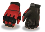 Summer Red Mesh Motorcycle Gloves
