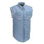 Cutoff Denim Motorcycle Vest