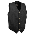 Black Denim Motorcycle Vests
