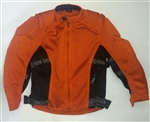 Kids Motorcycle Jackets: Mesh Body Armor: Orange