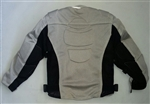 Kids Motorcycle Jackets: Mesh Body Armor: Silver