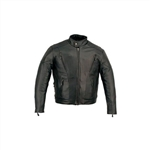 Leather Touring Kids Motorcycle Jacket - Scooter Style