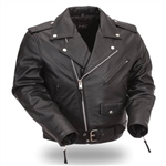 Classic Leather Kids Motorcycle Jacket: Biker Style