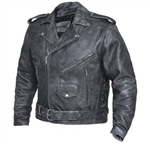 Tombstone Gray Men's Leather Motorcycle Jacket