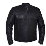 Men's Leather Motorcycle Jacket Naked Cowhide