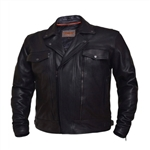 Kids Leather Motorcycle Jacket - Utility Style