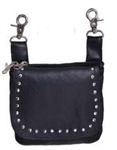 Leather Studded Biker Riding Purse