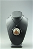 Graphic Image Disc Pendant by Huxtable Glass