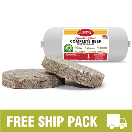 Raw Paws Complete Beef Amp Green Tripe Free Ship Pack 20
