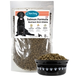 Raw Paws Grain-Free Salmon Recipe Kibble for Dogs, 8 lbs