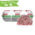 Raw Paws Signature Blend Complete Ground Beef & Vegetable for Dogs & Cats, 1 lb