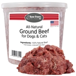 Raw Paws Ground Beef for Dogs & Cats, 4 lbs