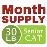 Month Supply - 30 lb Senior Cat