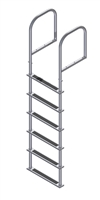 Six Step, Fixed, Topside-Mount Stainless Steel Dock Ladder