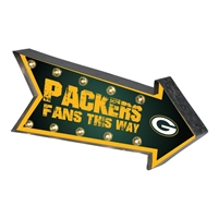 Green Bay Packers Arrow Sign