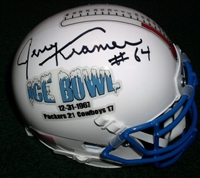 "Jerry Kramer Autograph ""Ice Bow"" Mini Helmet"