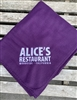 Alice's Fleece Throw Blanket -  Purple