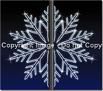 4', 7' , 9' Snowflakes with LED Strip lights