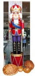 Giant Nutcracker with crown hat,staff and drum