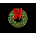 Large Pre-Lit Artificial Christmas Wreaths for Commercial Use