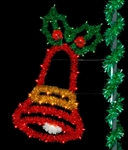 6' Sparkling Joyful bell with lights