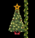 Pole Mount Sparkling Deluxe Majestic Pine Tree with lighting