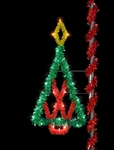 Pole Mount Sparkling Starburst Tree with LED lighting
