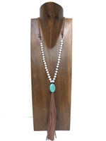 13003-2 Fresh Water Pearl with Tassel Necklace